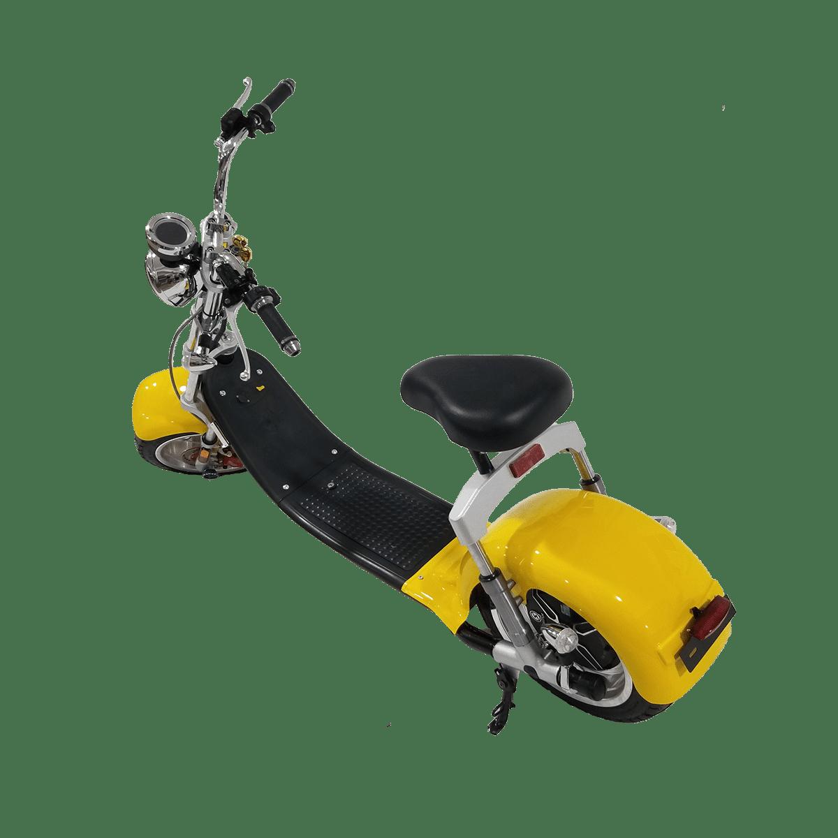 Citycoco Harley Deluxe Jaune avec 1 batterie offerte en plus 27