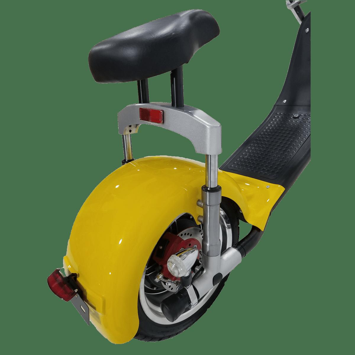 Citycoco Harley Deluxe Jaune avec 1 batterie offerte en plus 26