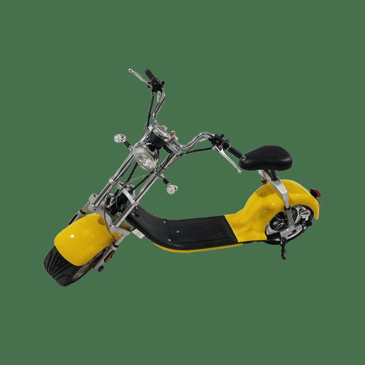 Citycoco Harley Deluxe Jaune avec 1 batterie offerte en plus 20