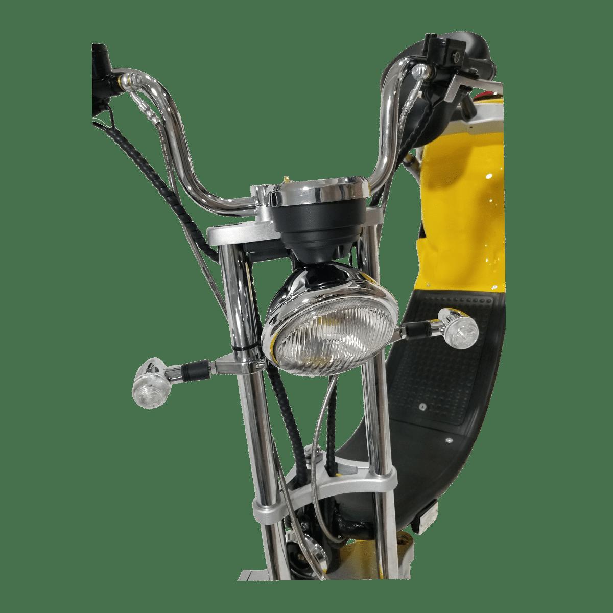 Citycoco Harley Deluxe Jaune avec 1 batterie offerte en plus 19