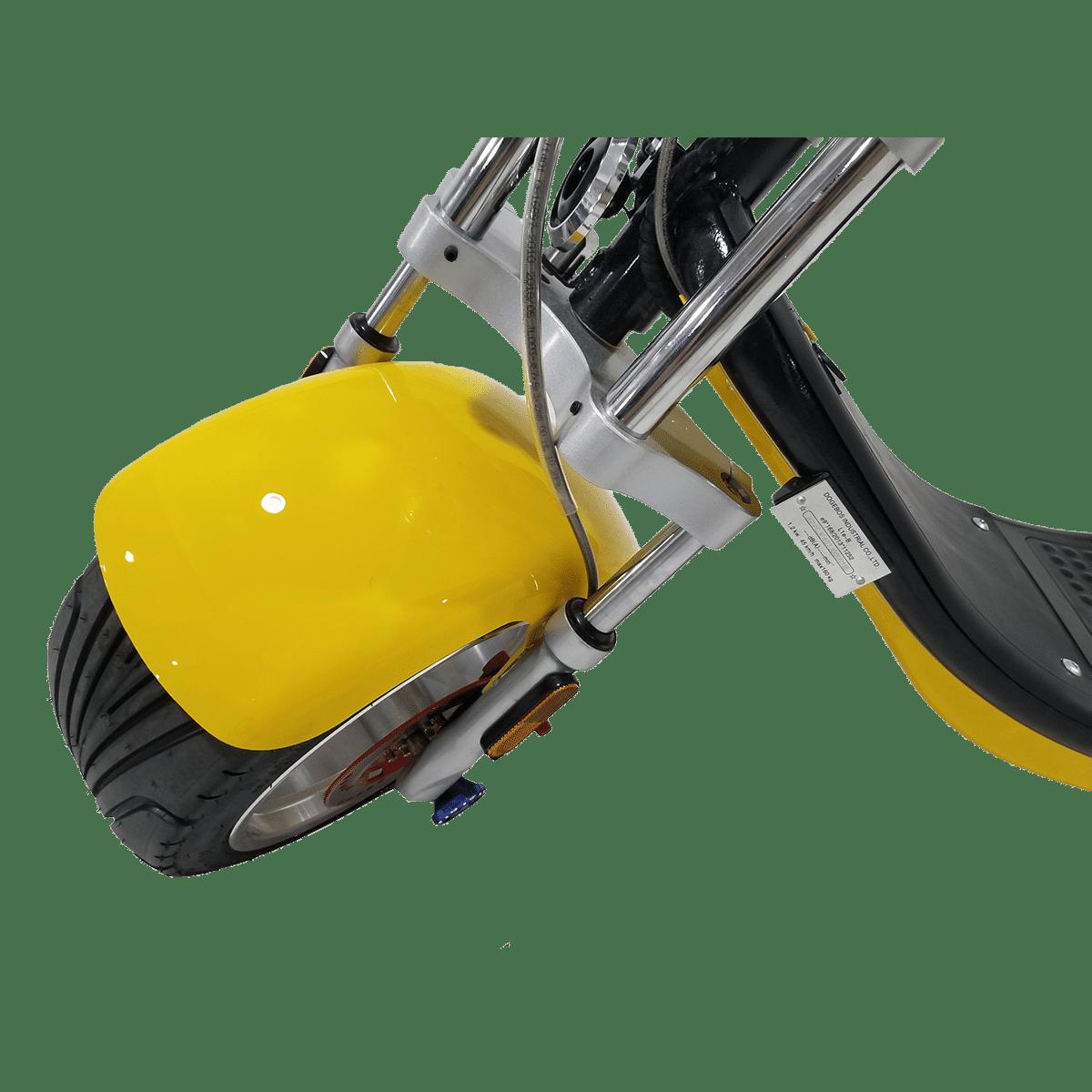 Citycoco Harley Deluxe Jaune avec 1 batterie offerte en plus 9