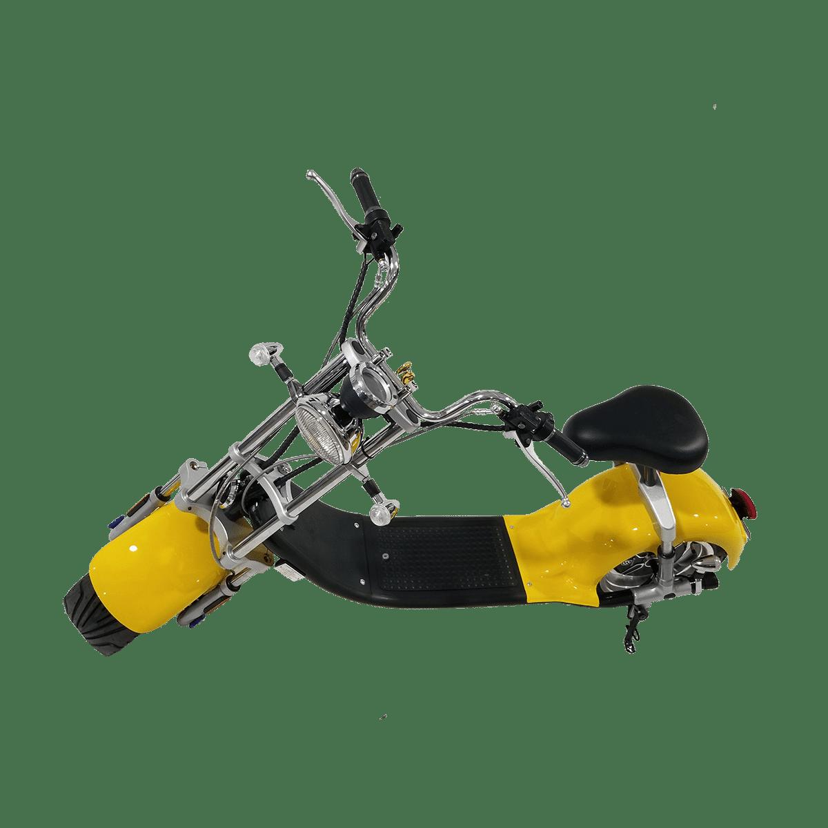 Citycoco Harley Deluxe Jaune avec 1 batterie offerte en plus 8