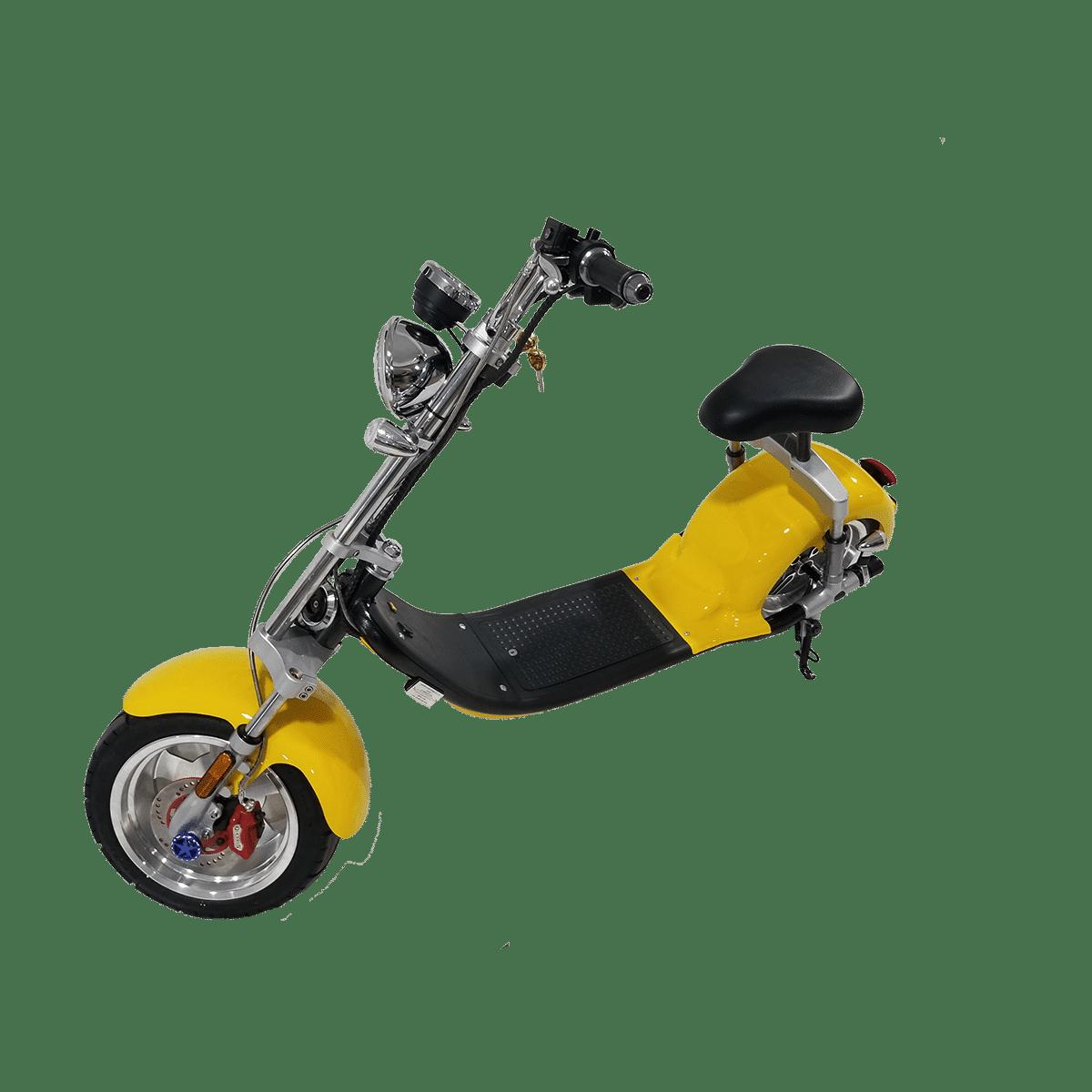 Citycoco Harley Deluxe Jaune avec 1 batterie offerte en plus 7