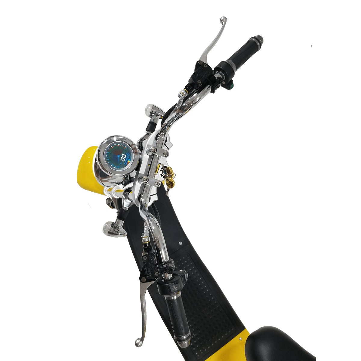 Citycoco Harley Deluxe Jaune avec 1 batterie offerte en plus 5