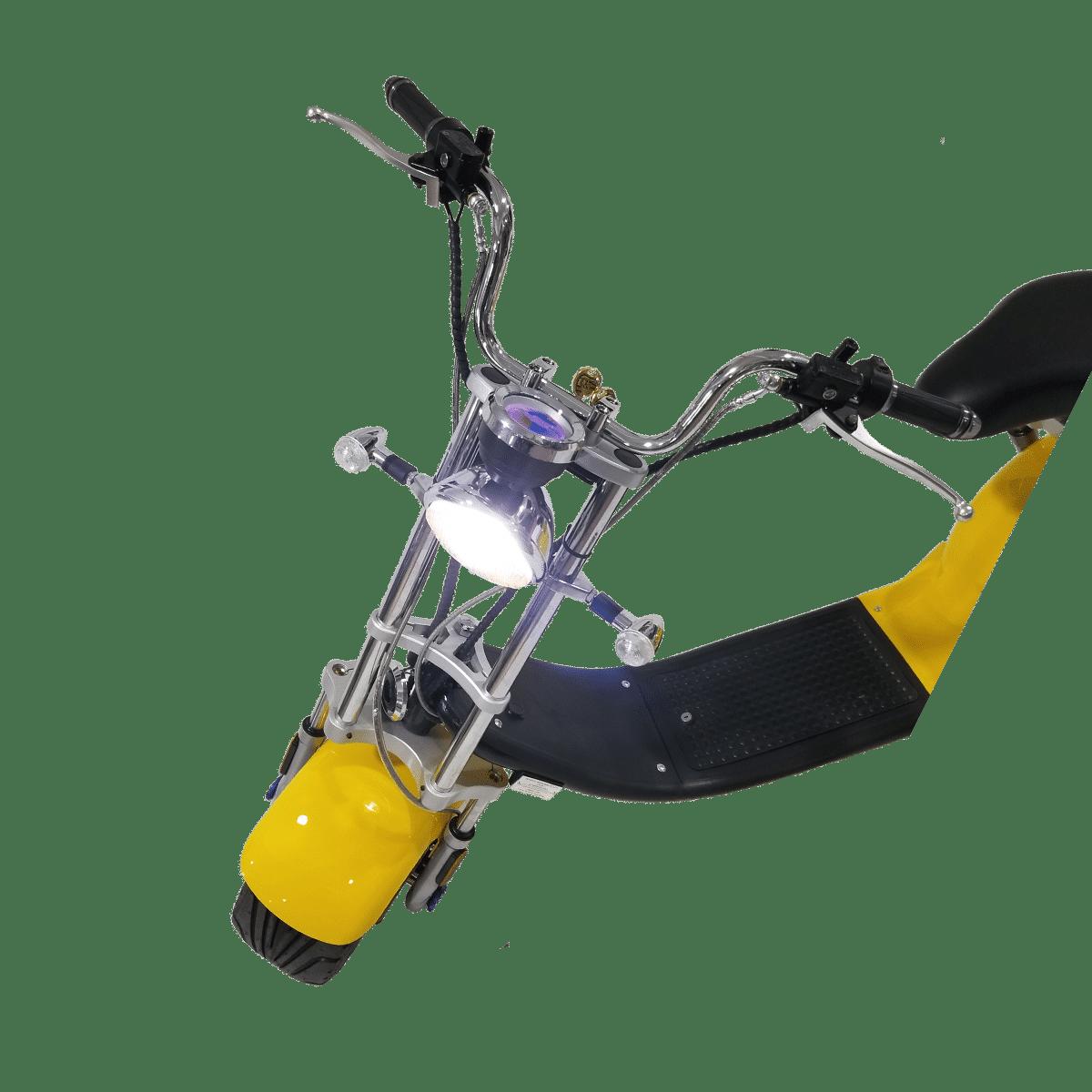 Citycoco Harley Deluxe Jaune avec 1 batterie offerte en plus 3