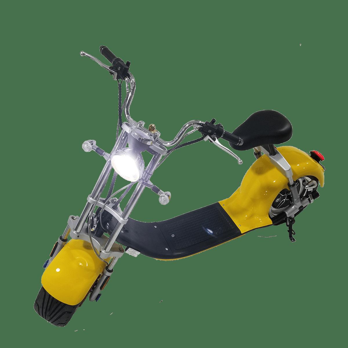 Citycoco Harley Deluxe Jaune avec 1 batterie offerte en plus 2