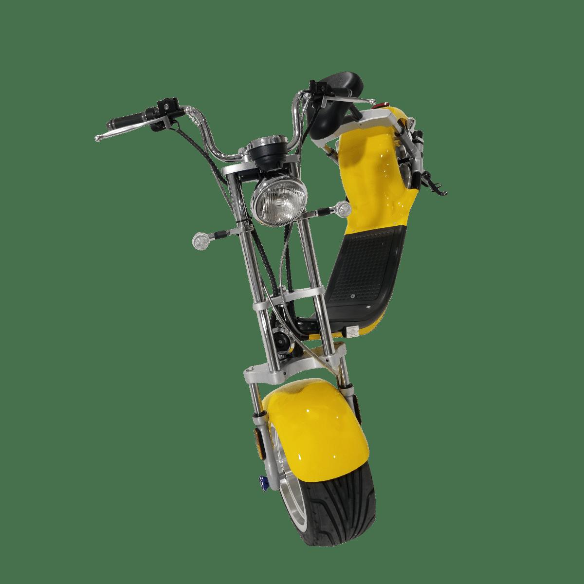 Citycoco Harley Deluxe Jaune avec 1 batterie offerte en plus 18