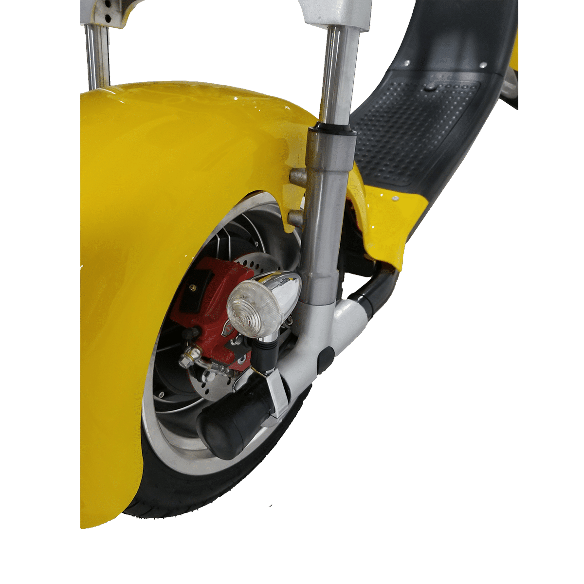 Citycoco Harley Deluxe Jaune avec 1 batterie offerte en plus 12