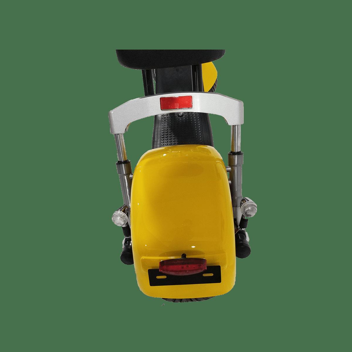 Citycoco Harley Deluxe Jaune avec 1 batterie offerte en plus 11